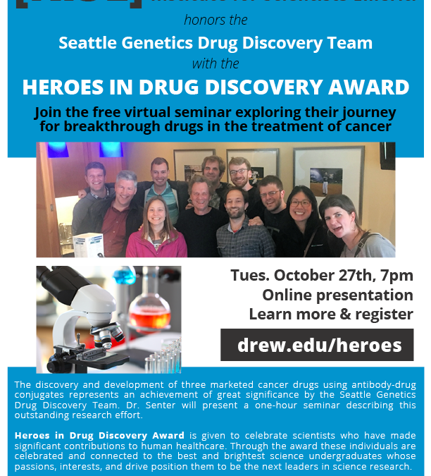 Drew University's Research Institute for Research Emeriti presents the Heroes in Drug Discovery Award