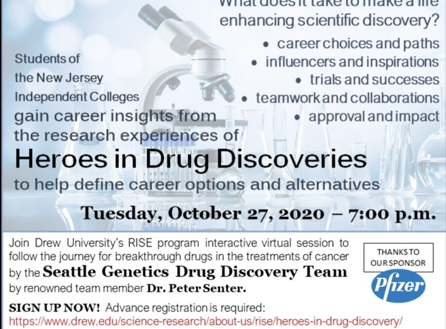 Drew University RISE present the Heroes in Drug Discovery Award