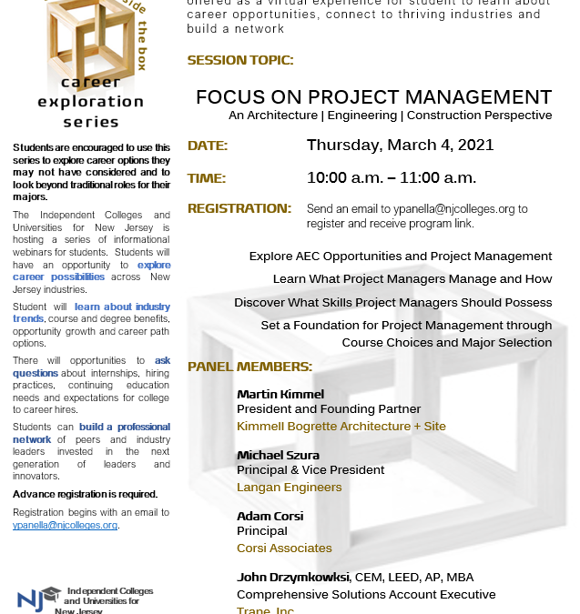 Career Exploration Series: Focus on Project Management