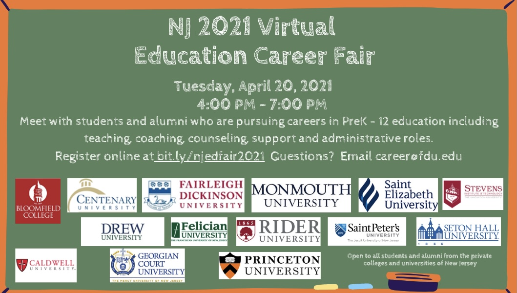 2021 Education Career Fair for NJ Independent Colleges and Universities