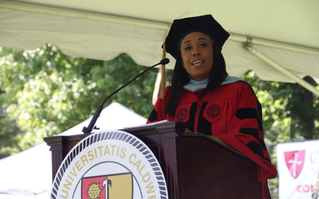 """Lesley Chung: Commencement speaker tells Caldwell University graduates they are """"unbreakable, unbeatable, undefeated and unstoppable"""""""